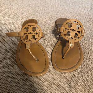 Pair of Authentic Tory Burch Sandals. ONE IS BROKE